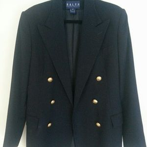 Ralph Lauren Blue Label Wool Gold Button Blazer